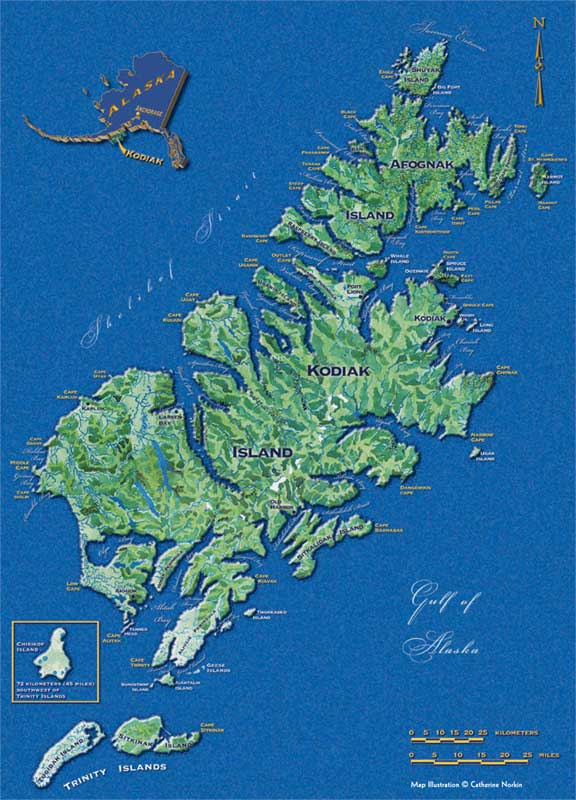 Map of Kodiak Archipelago