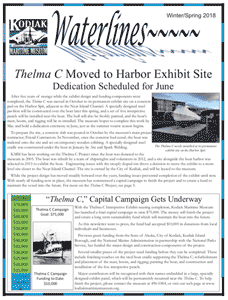 Front page of current newsletter