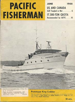 F/V Peggy Jo on Pacific Fisherman Magazine's Cover, June 1966